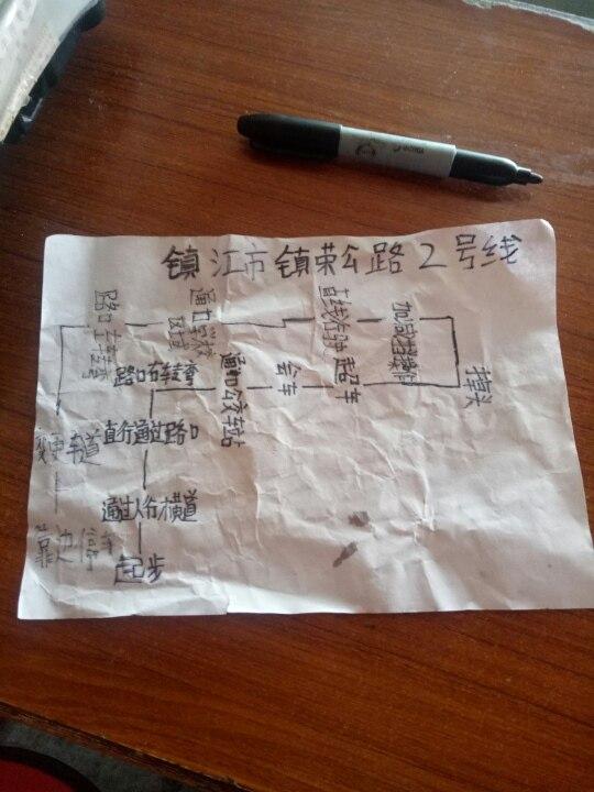 镇江市镇荣公路科目三路线,我19日挂在2号线直线行驶.